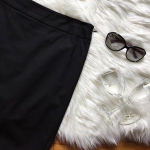 LOFT Black Scuba Pencil Skirt